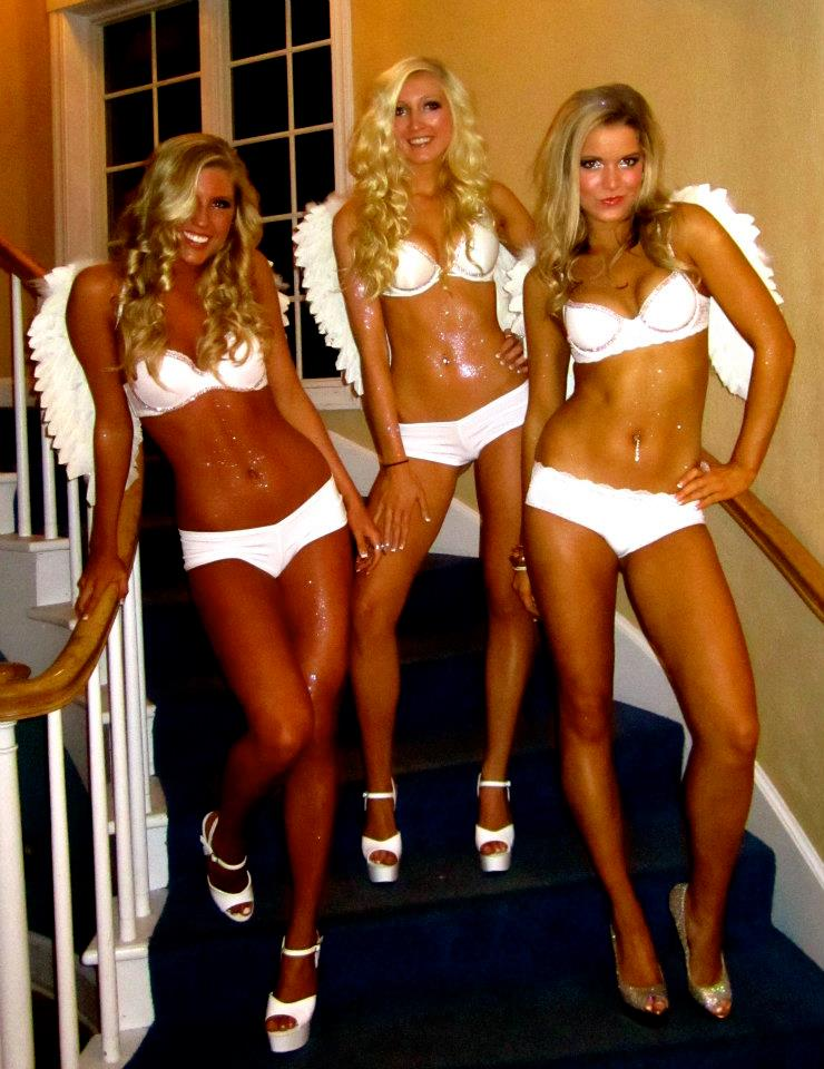 Sexy girls in slutty halloween costumes