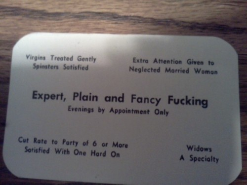 Found these business cards in my 85-year-old grandfather's desk. TFM.