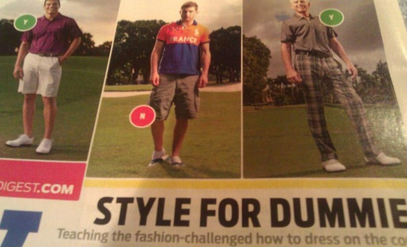Golf Digest saying no to cargos and the French. TFM.