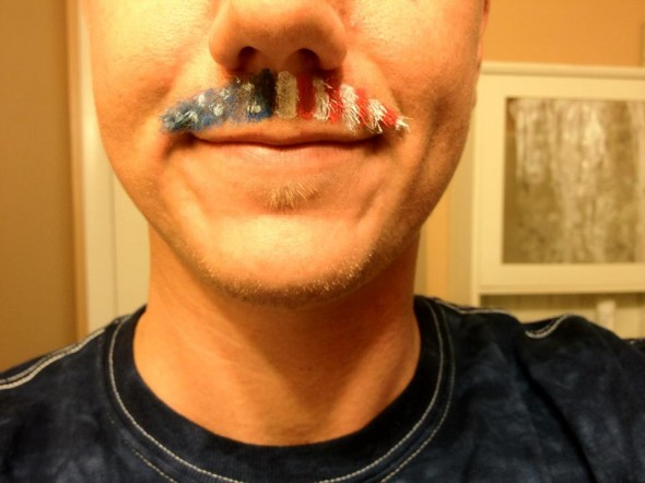 It reeks of freedom in here. Oh, that's just my upper lip. TFM.