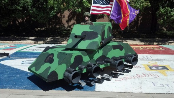 Greek Week chariot? Fuck it, let's make a T-shirt cannon tank. TFM.