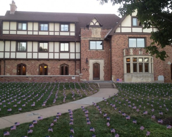 A flag for every fallen soldier. TFM.