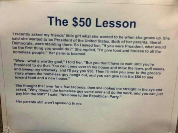 The $50 lesson. TFM.