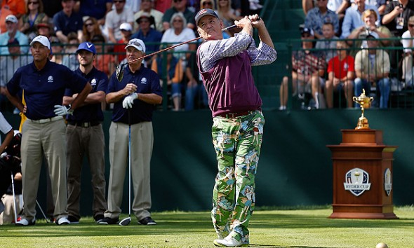 Bill Murray at the Ryder Cup. TFM.
