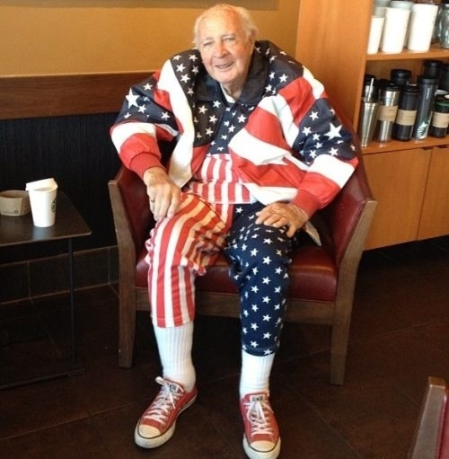 This Veteran's unwavering patriotism. TFM.