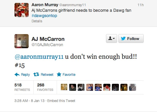Putting Aarron Murray in his place. TFM.