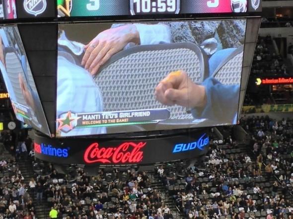 The Dallas Stars had Manti Te'o's girlfriend at their game. TFM.