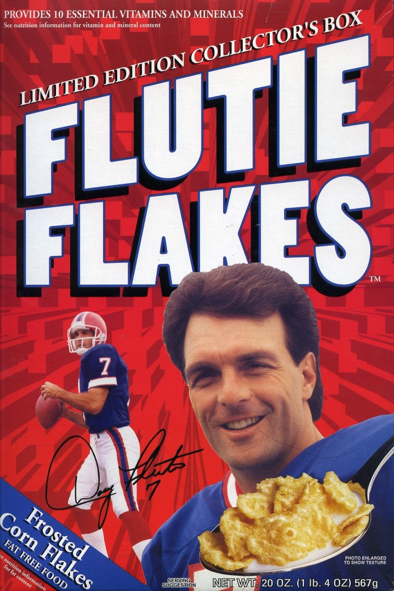 Flutie Flakes Doug Red Box Cereal