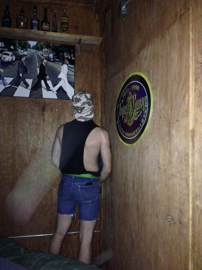 Its not a White Trash Bash until someone pees in the corner.