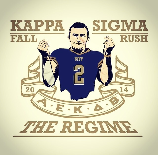 Because Manziel was a Kappa Sigma at Pitt, right?