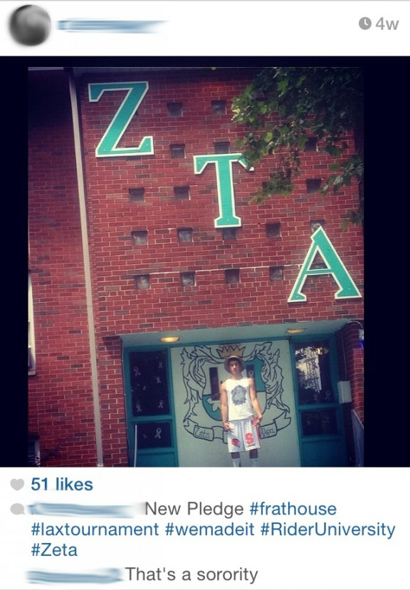 The commenter is right. That's a sorority.