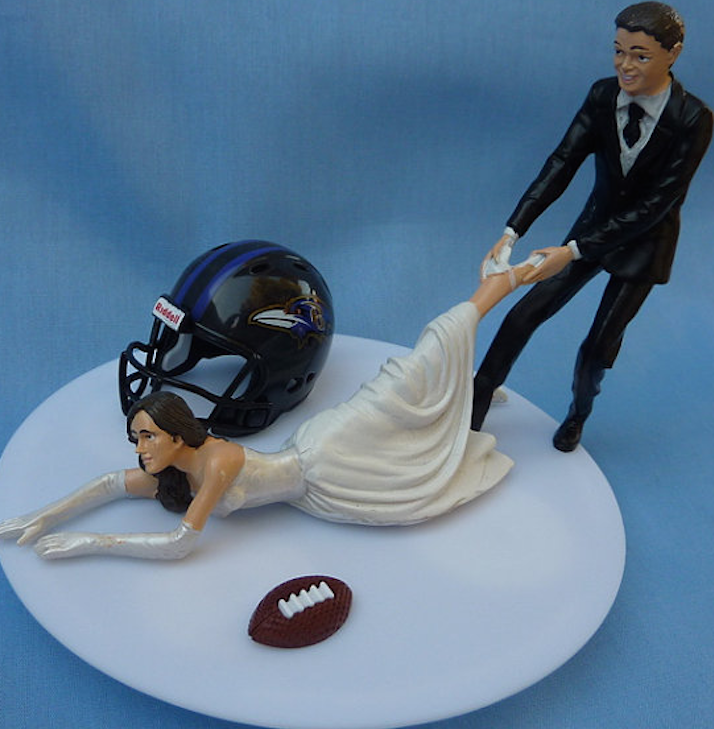 total frat move ravens wedding cake topper is just the most unfortunate thing you ever did see. Black Bedroom Furniture Sets. Home Design Ideas