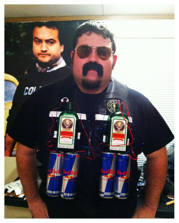 the jager bomber - College Halloween Costumes Male