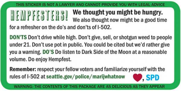 HempFest Sticker