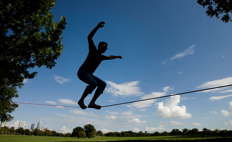Slacklining: Hipsters At Their Dumbest