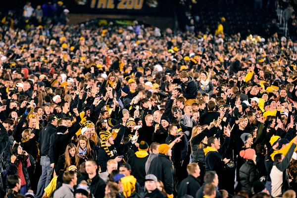 This crowd is blackout squared. - via The Columbia Missourian