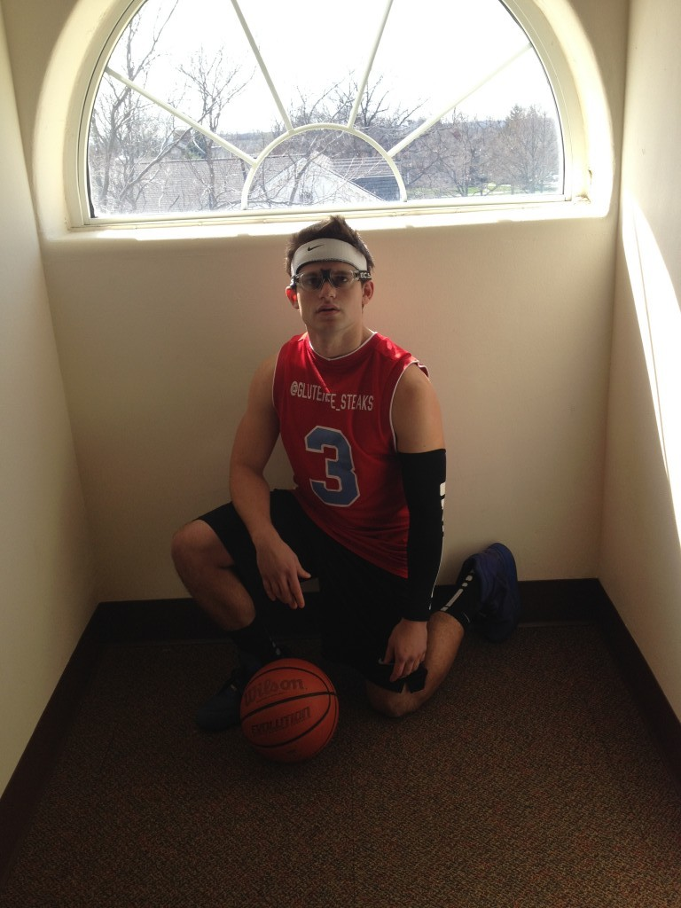 Dude is taking intramurals a little too seriously.