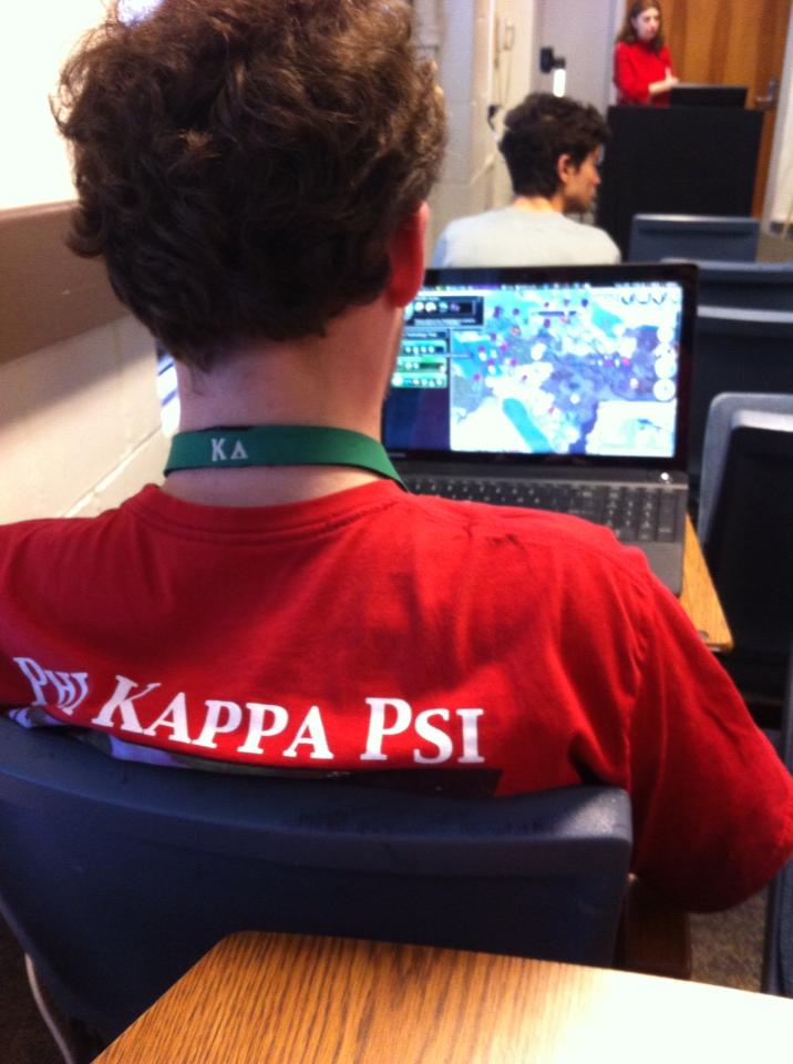 Playing World of Warcraft in class. TFM.