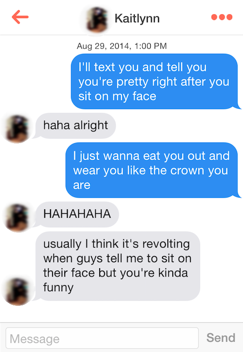How to get a girl to sit on your face